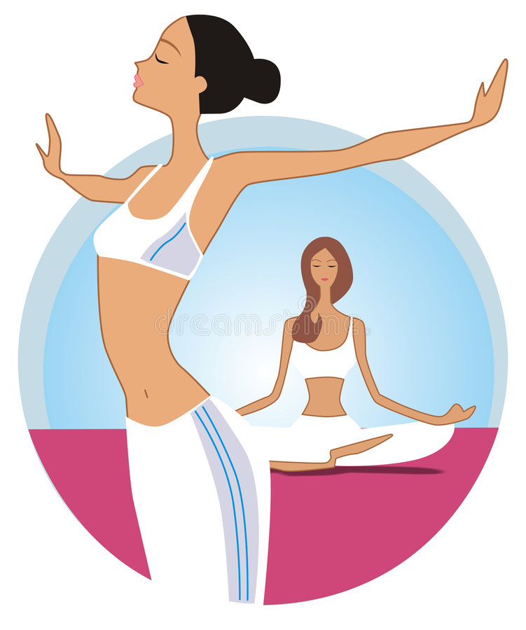 yoga stock illustrationer
