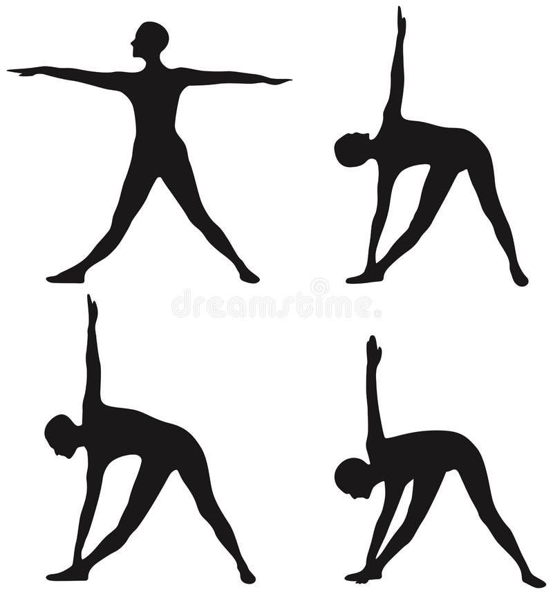 yoga stock illustrationer