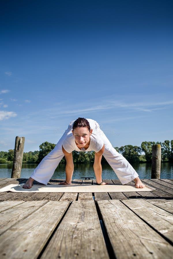 Download Yoga stock image. Image of yoga, young, strength, riverside - 26332837