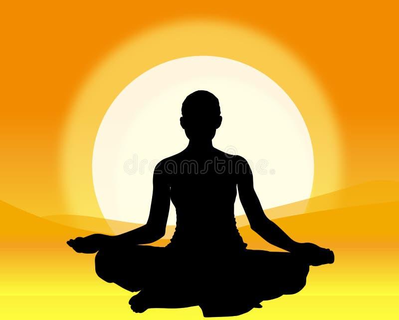 Yoga ! illustration de vecteur