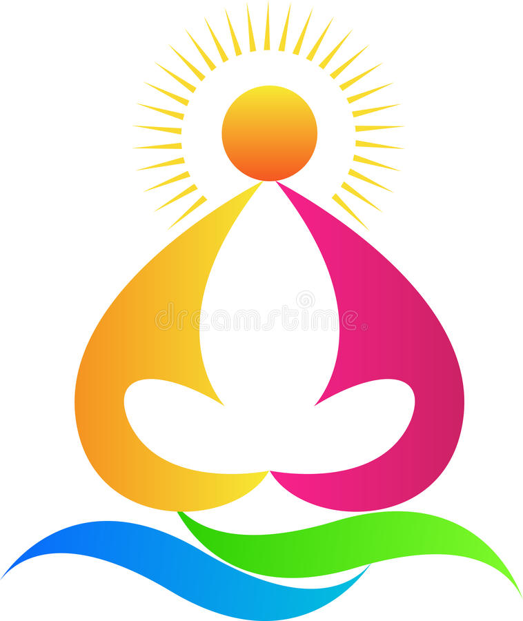 Yoga stock illustratie