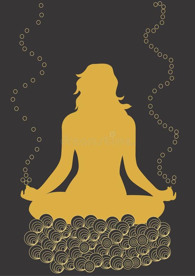 Yoga ilustración del vector