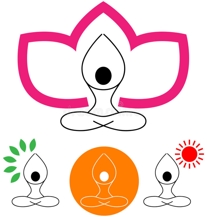 Yoga vector illustratie