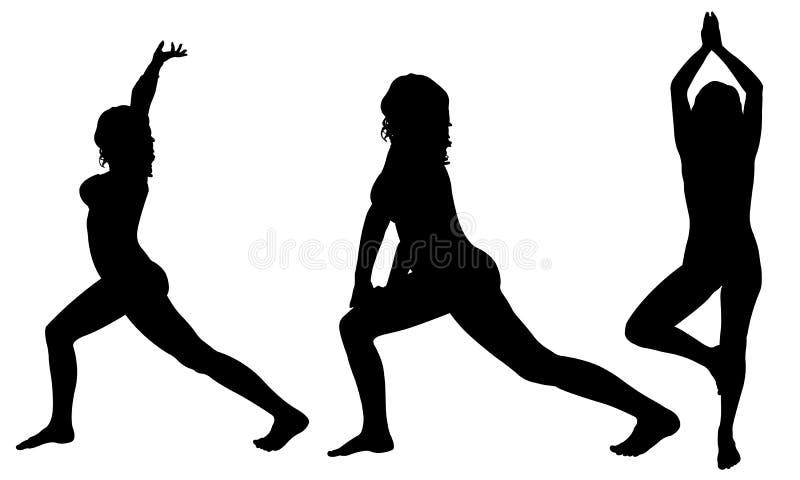yoga ilustração royalty free