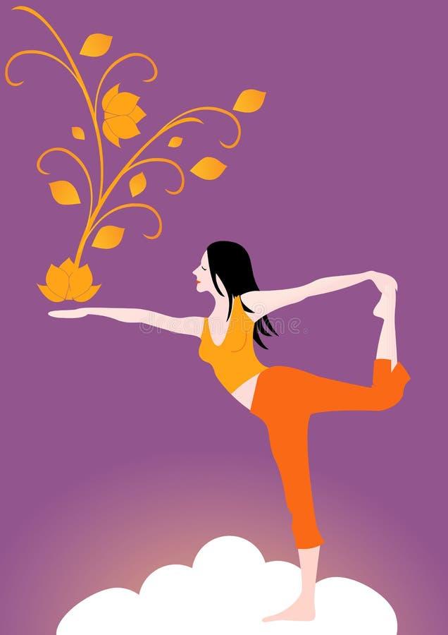 Yoga. stock illustration