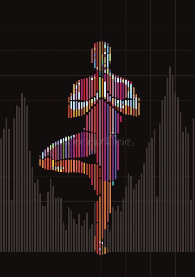 yoga vektor illustrationer