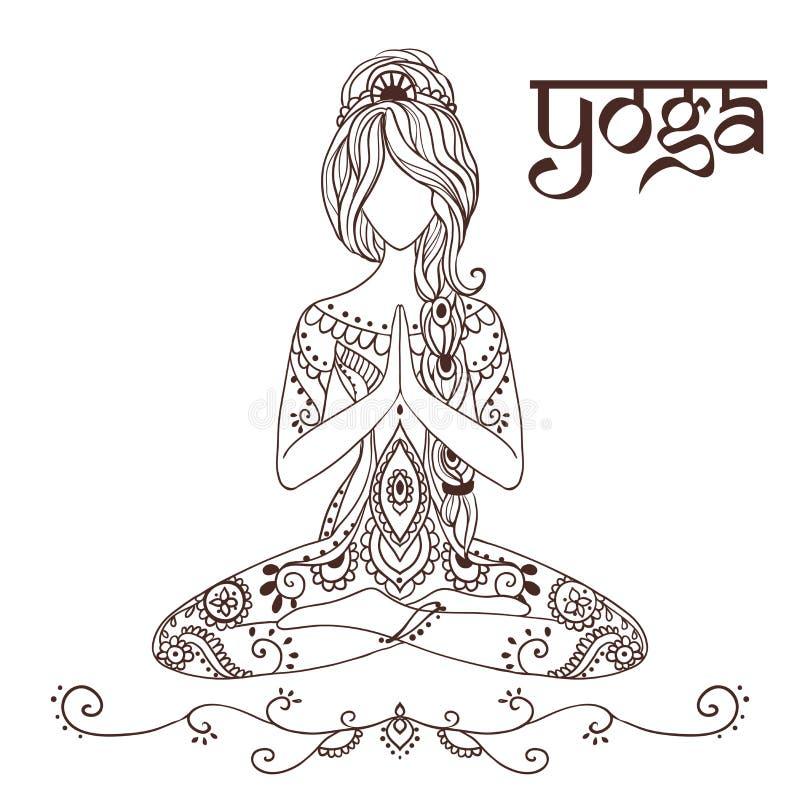 Yoga-2 royaltyfri illustrationer