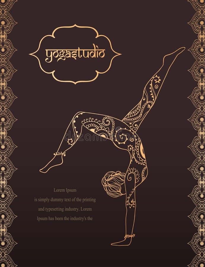 Yoga-2 stock illustrationer