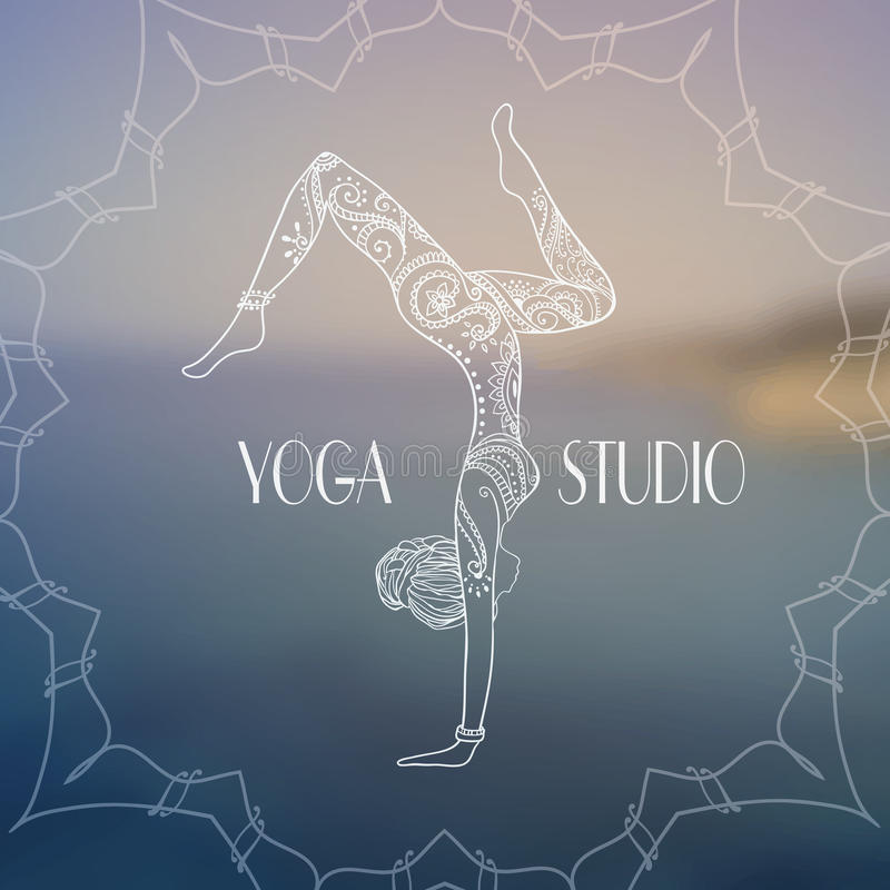 Yoga-2 иллюстрация вектора