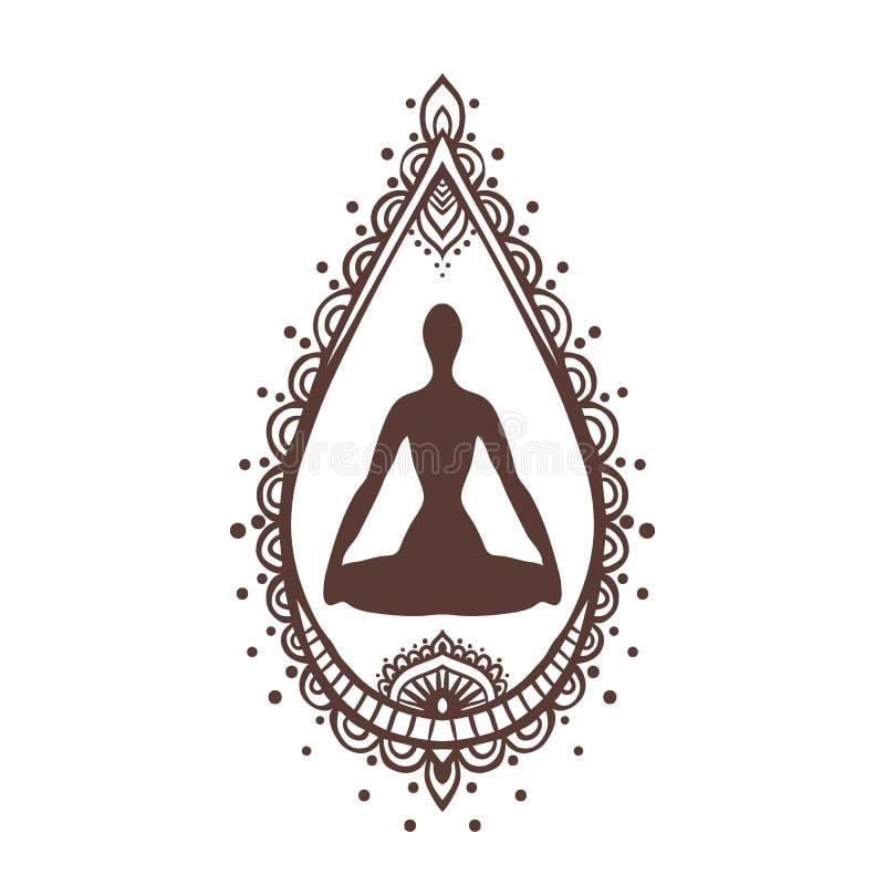 Yoga-2 illustration libre de droits