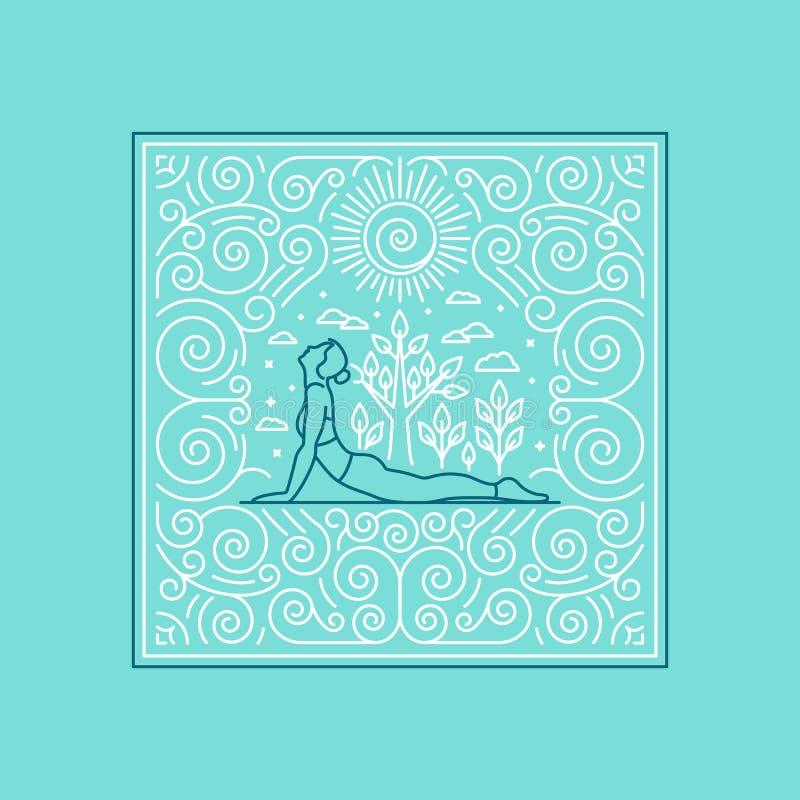 yoga royalty illustrazione gratis