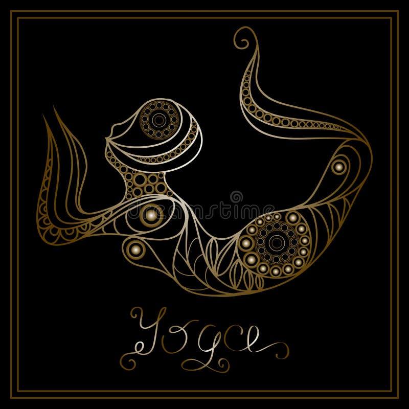 Yoga 18 vektor illustrationer