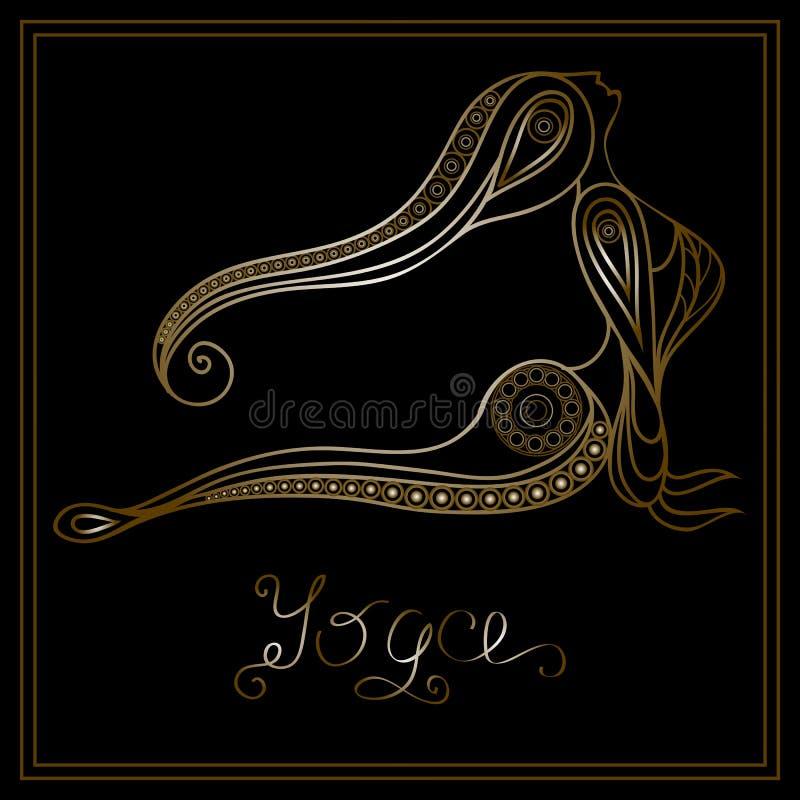 Yoga 11 stock illustrationer