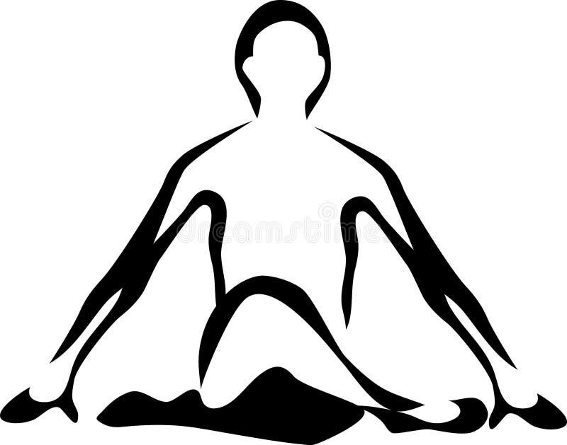 yoga illustration libre de droits