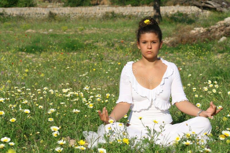 Download Yoga image stock. Image du méditation, jeune, femelle, méditez - 731025
