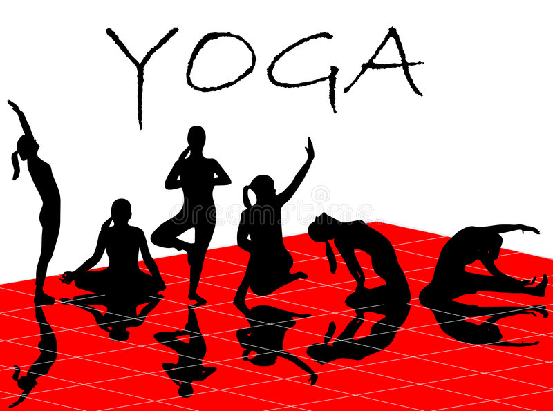 Yoga illustration libre de droits