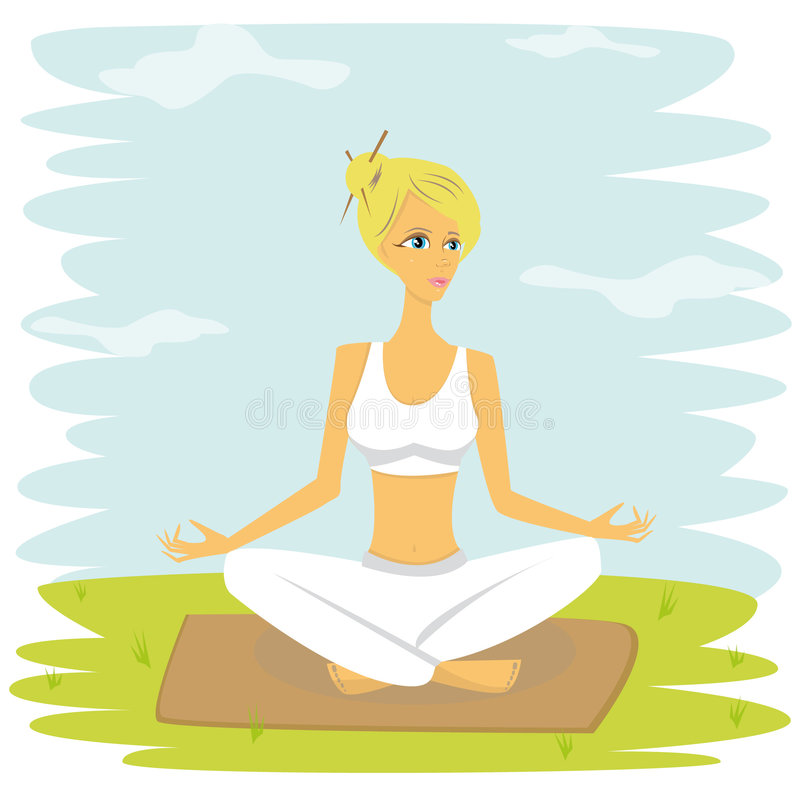 yoga illustrazione di stock