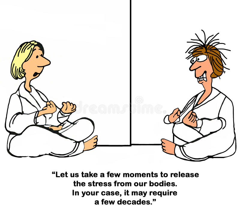 yoga royalty-vrije illustratie