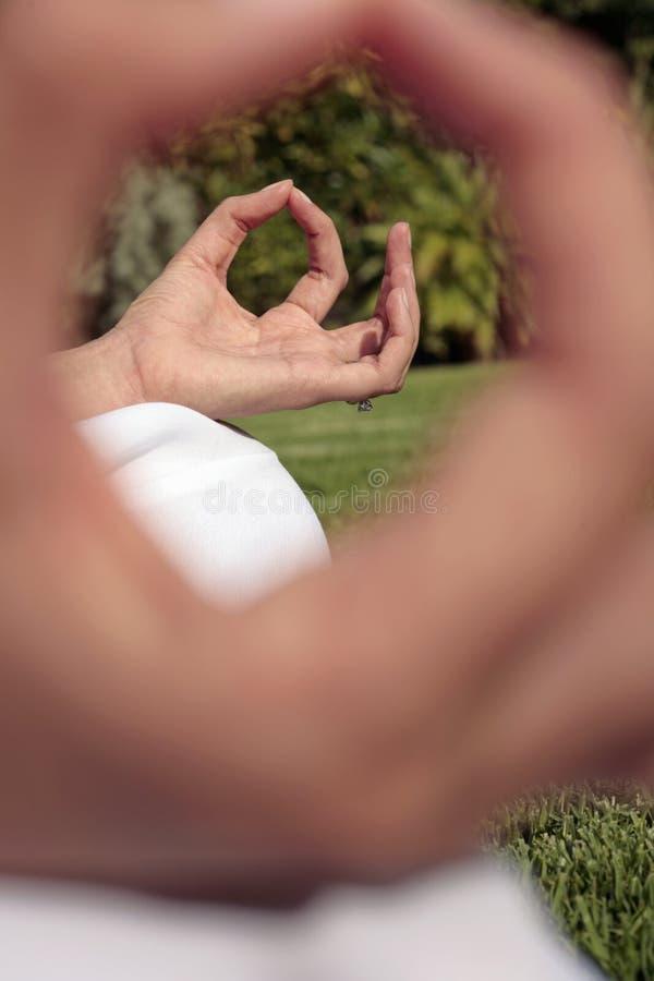 Yoga abstracta foto de archivo