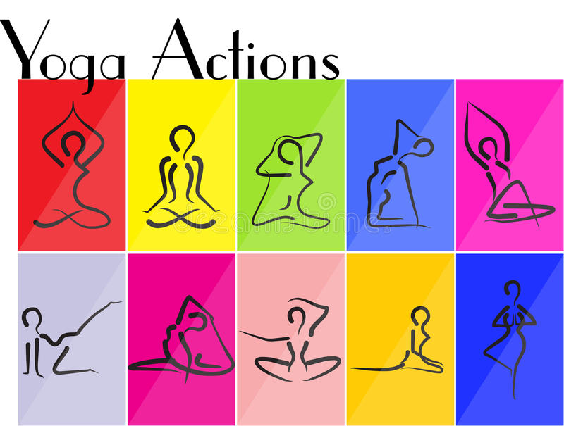 Yoga Actions Royalty Free Stock Photos