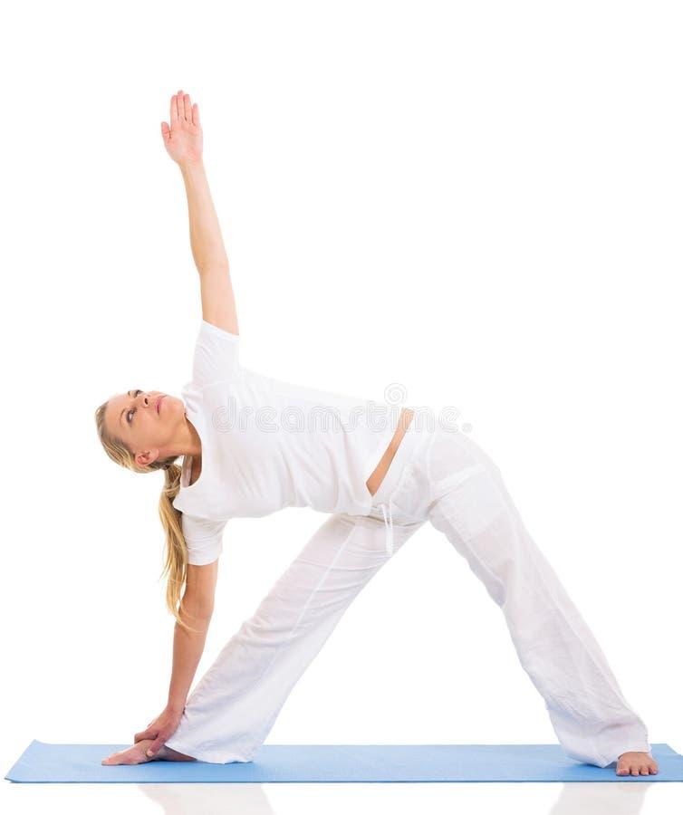 Yoga adatta della donna fotografie stock libere da diritti
