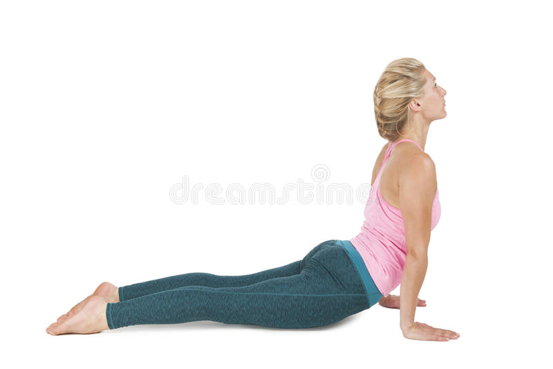 Yoga_Adho Mukha Svanasana_step_1 стоковые изображения rf