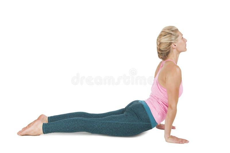 Yoga_Adho Mukha Svanasana_step_7 стоковое фото rf