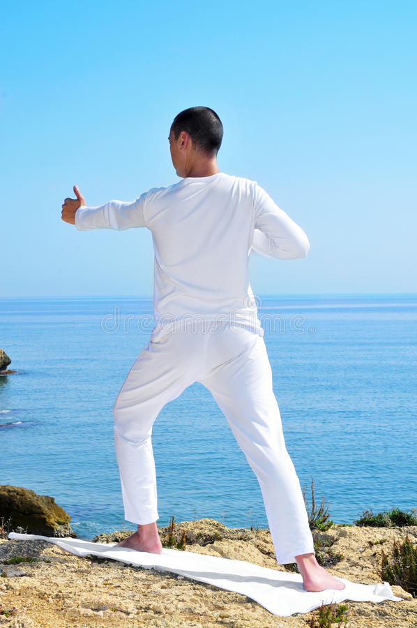 Download Yoga archer pose stock photo. Image of growth, ocean - 24385610