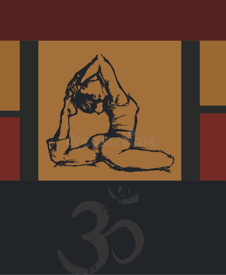 Yoga Asana lizenzfreies stockbild