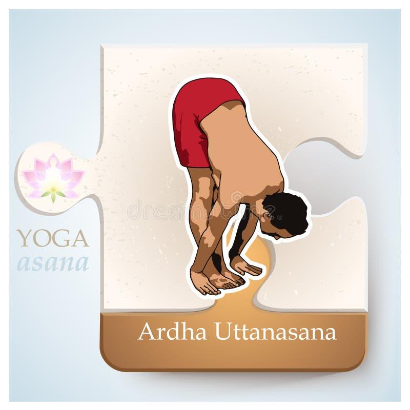 YOGA Asana Ardha Uttanasana libre illustration
