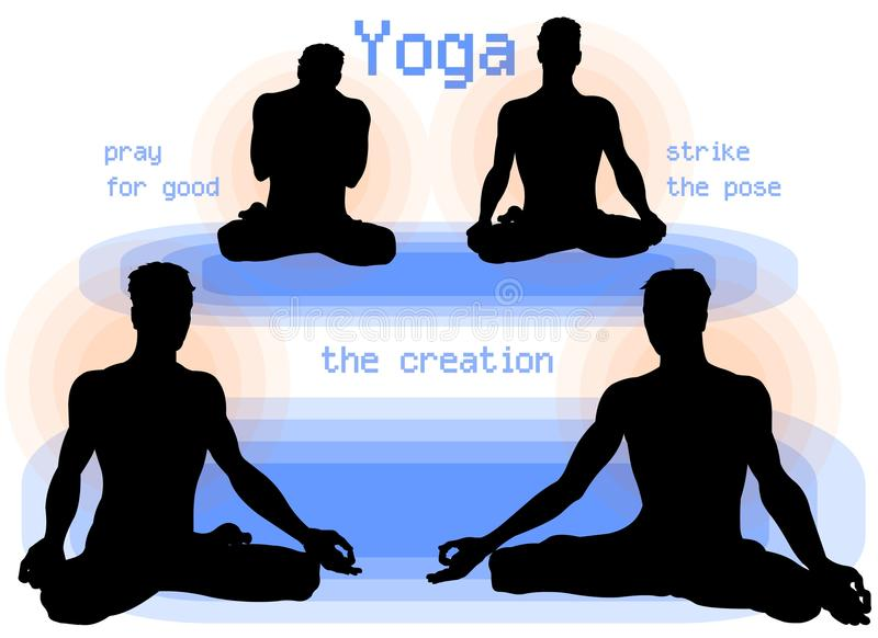 Yoga Asana Poses royalty free stock photography
