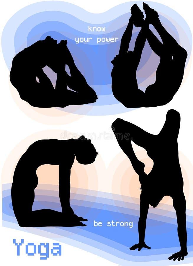 Yoga Asana Poses stock photos