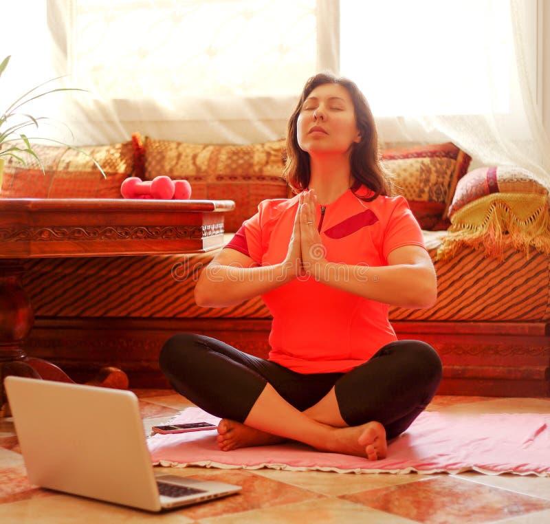 Free Yoga At Home. Royalty Free Stock Image - 215531736