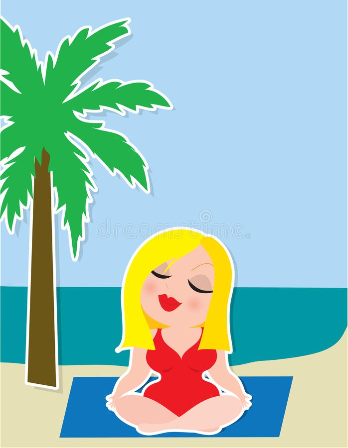 Yoga Background vector illustration