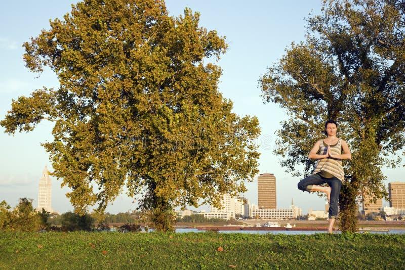 Yoga in Baton Rouge. Louisiana stock photography