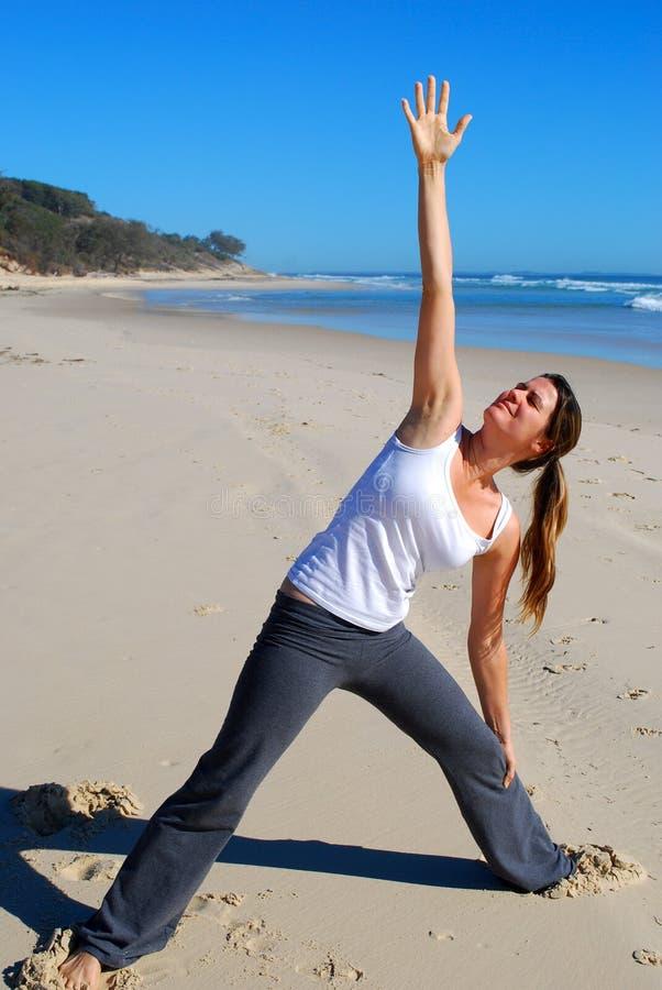 Yoga On The Beach Stock Image