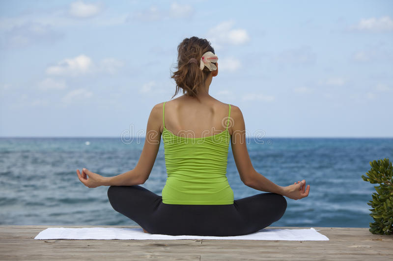 Download Yoga on the beach stock image. Image of nature, yoga - 11134397