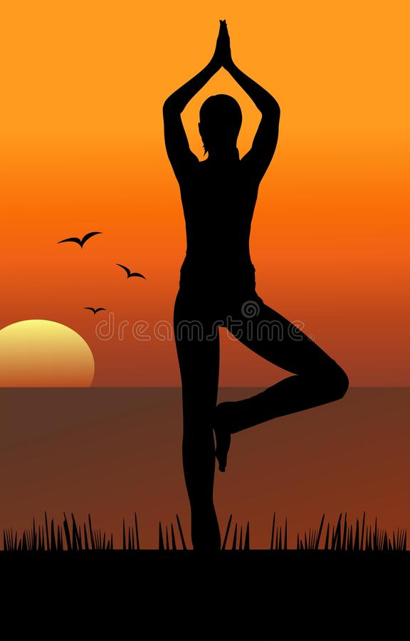 Download Yoga On The Beach Royalty Free Stock Photos - Image: 18083338