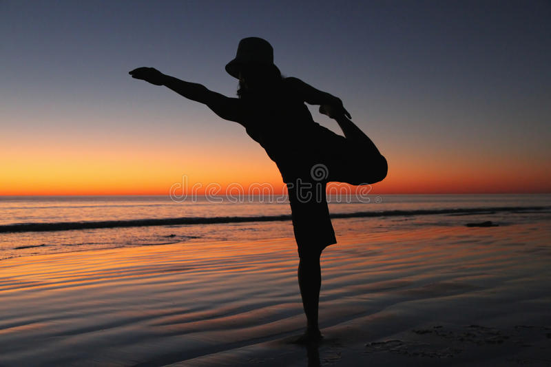 Download Yoga on the beach stock photo. Image of lifestyle, exercise - 21459906