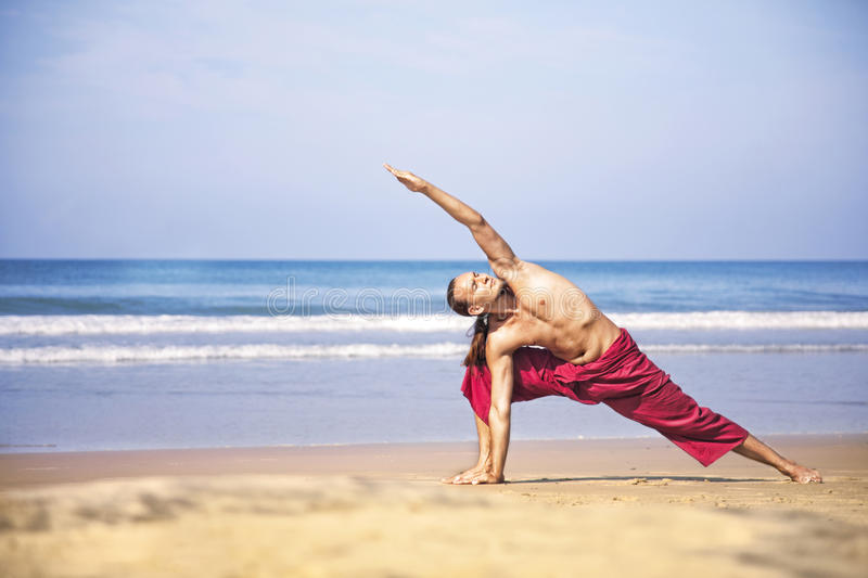 Download Yoga on the beach stock image. Image of exercise, mental - 25445729