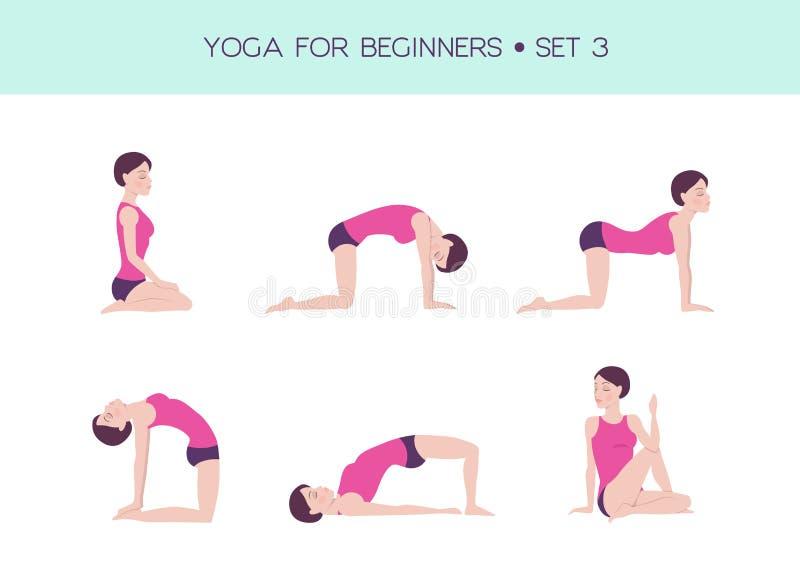 Célèbre Yoga For Beginners Basic Set Stock Vector - Illustration of figure  SB55