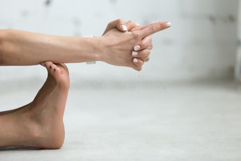Yoga binnen: Vajra Mudra - Donder Mudra royalty-vrije stock foto's