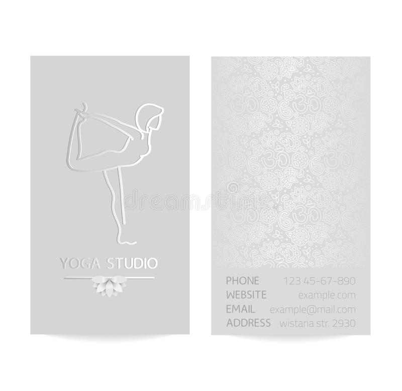 Yoga business card stock vector. Illustration of label - 63906948
