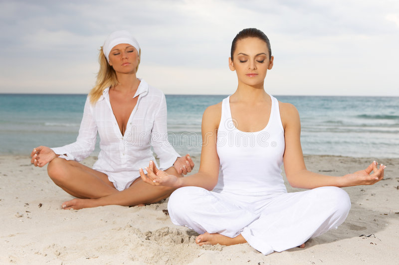 Download Yoga at Caribbean stock photo. Image of exotic, caribbean - 5356576