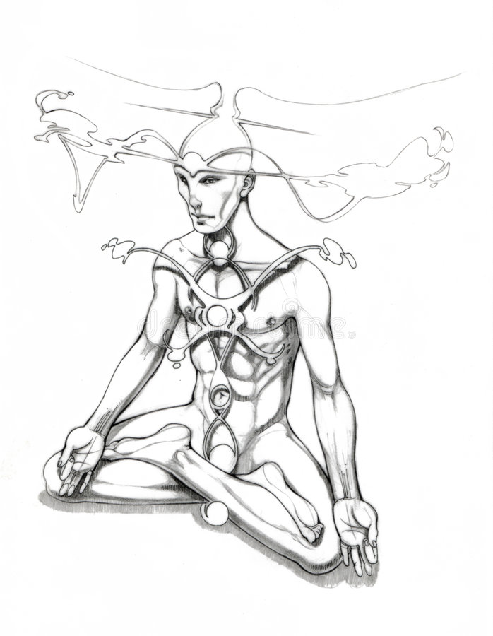 Yoga Chakras stock foto