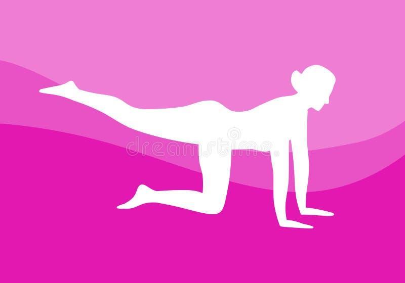 Yoga che allunga vettore royalty illustrazione gratis