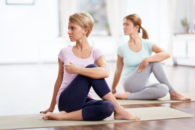 Yoga class royalty free stock image