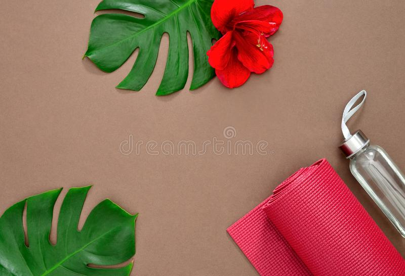 Yoga background with a space for a text royalty free stock photography