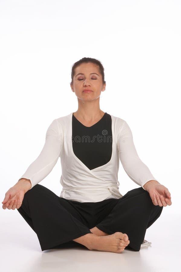 Yoga-classe photographie stock libre de droits