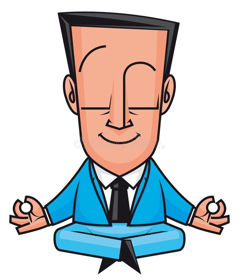Yoga d'affaires illustration de vecteur